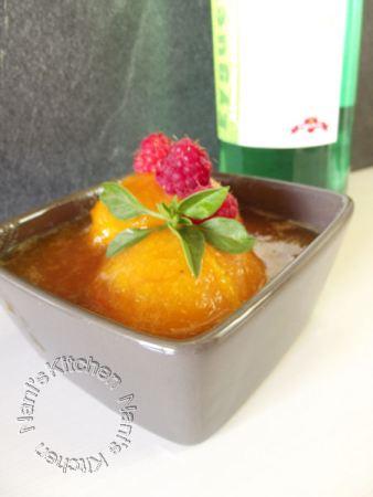 abricots rôtis miel et sirop basilic (1)