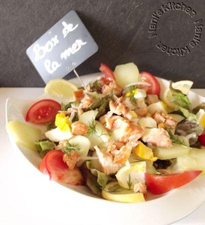 salade pavé saumon fumé pdt aneth (1)